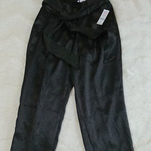 NWT Ardene shiny, polyester, black pants. S